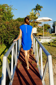 Classic Shift Dress - Electric Blue