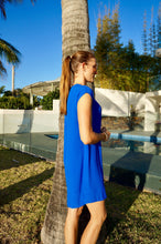 Load image into Gallery viewer, Classic Shift Dress - Electric Blue