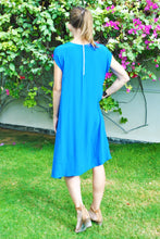 Load image into Gallery viewer, Trapeze Dress - Electric Blue