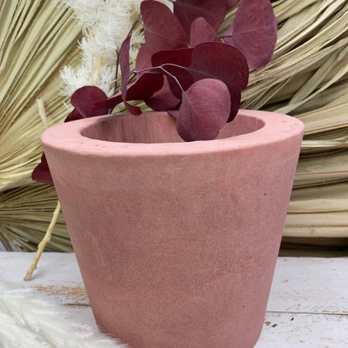 Pink Cement Planter MEDIUM