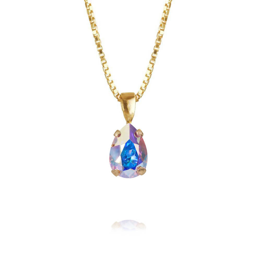 Girls Petite Drop Aurora Necklace Swarovski