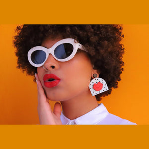 Polka dot kiss earrings