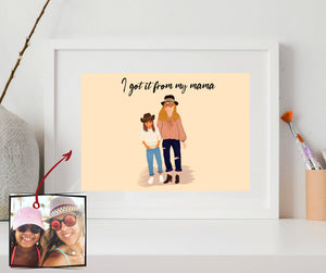 BFF/Sibling/Mummy&Me Customized Portrait (PERSONALISED)
