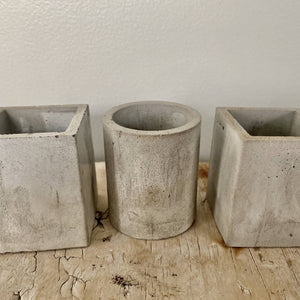 Small Cement Planter Set of 3