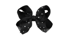 Load image into Gallery viewer, Glitter Bows - Midnight Navy
