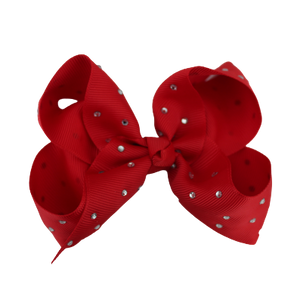 Glitter Bows - Candy Cane Red