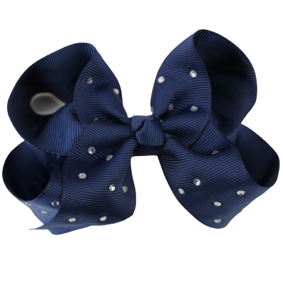 Glitter Bows - Midnight Navy