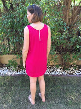 Load image into Gallery viewer, Sleeveless Shift Dress (Longer length) - Pink