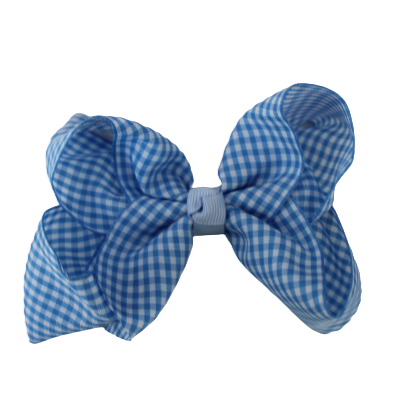 Large Bows - Blue Gingham