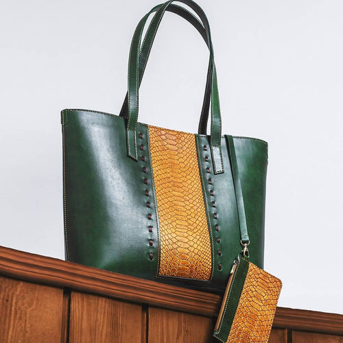 Green & Yellow MARJAN Tote Bag