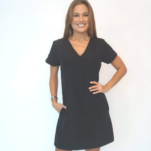 The Mini Anywhere Dress - Midnight Black