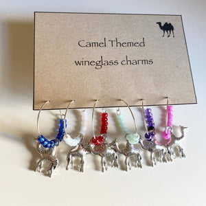 Camel Themed Glass Charms