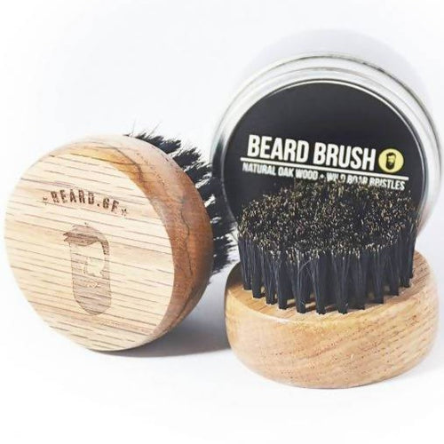 Natural Oak & Wild Boar Bristle Beard Brush