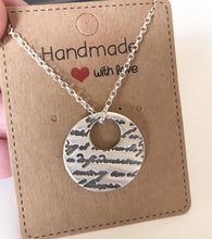 Load image into Gallery viewer, Silver script necklace