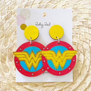 Wonderwoman earrings