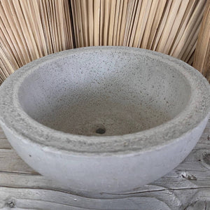 Cement Planter/Pot Small Round Bowl
