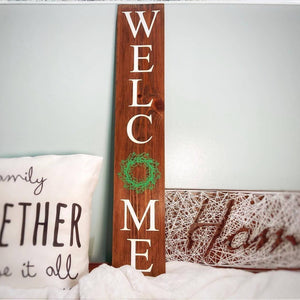 Christmas Wreath Welcome Sign