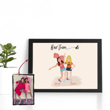 Load image into Gallery viewer, BFF/Sibling/Mummy&Me Customized Portrait (PERSONALISED)