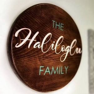 Family Name Sign - Round Small