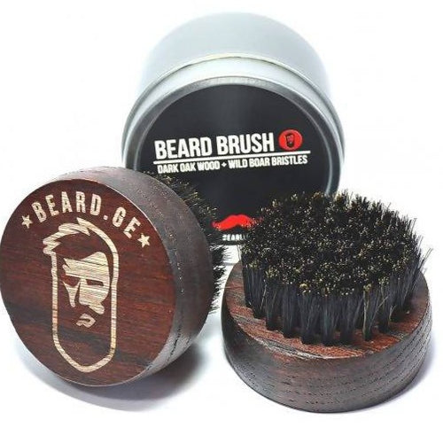 Black Oak & Wild Boar Bristle Beard Brush