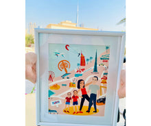 Load image into Gallery viewer, Whimsical Dubai Map Family Portrait (PERSONALISED)