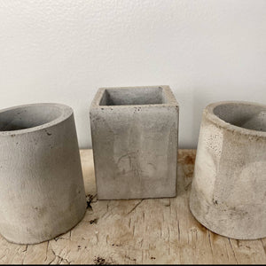 Small Cement Planters Set of 3