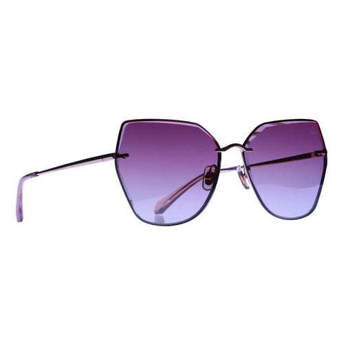 Helen Keller Sunglasses Women's Square Shape Wine Colored Sunglasses