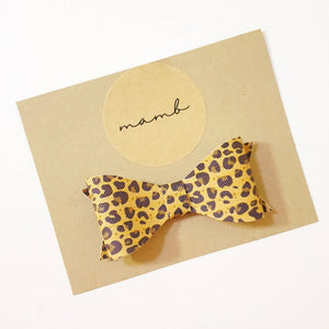 Classic Leatherette Bow - Printed Patterns
