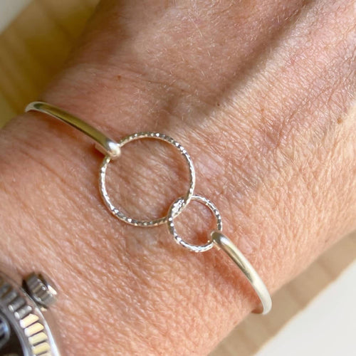 Sterling Silver Double Loop Bangle