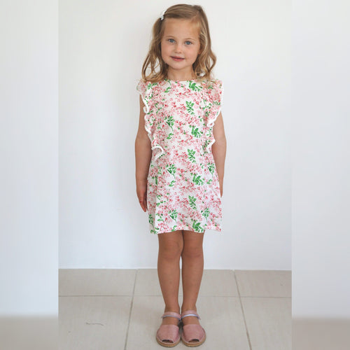 The Little Fifi Ruffle Dress - Pink Blossom