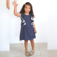 Load image into Gallery viewer, The Little Fifi Ruffle Dress - Navy White Stars