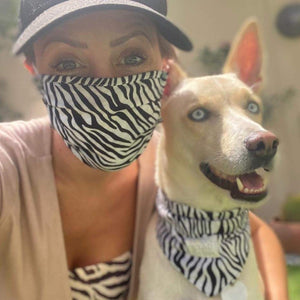 Dog Bandana - Zebra