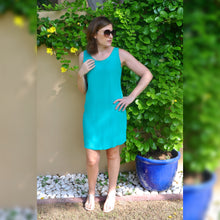 Load image into Gallery viewer, Sleeveless Shift Dress (Longer length) - Emerald