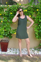 Load image into Gallery viewer, Sleeveless Shift Dress - Khaki
