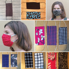 Load image into Gallery viewer, Rayon Face Cover with pocket - Various prints