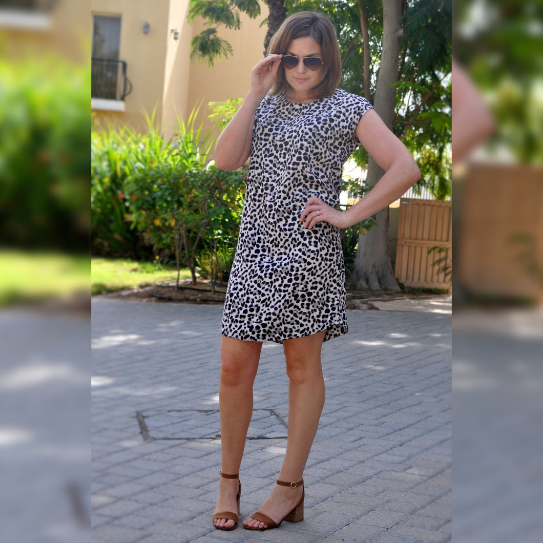 Classic Shift dress - Animal print