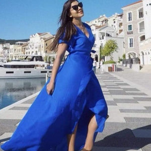 The Wrap Dress - Royal Blue