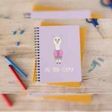 "Load image into Gallery viewer, ""No Prob-Llama"" A5 Spiral Notebook"