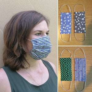 Cotton Face Cover with pocket - Various prints