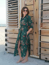 Load image into Gallery viewer, Alexandria shirt dress - Green flower