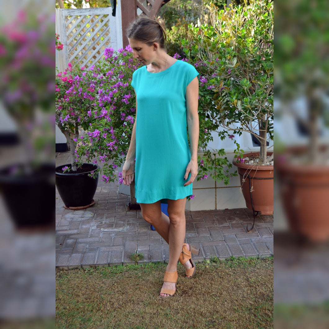 Classic Shift Dress - Emerald