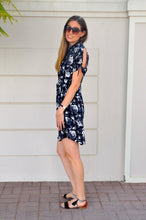 Load image into Gallery viewer, Vienna shirt dress - Navy Floral