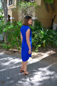 Belted Shift - Electric Blue