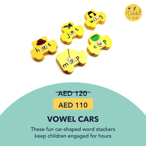 Vowel Cars (ages 3 to 5 years)