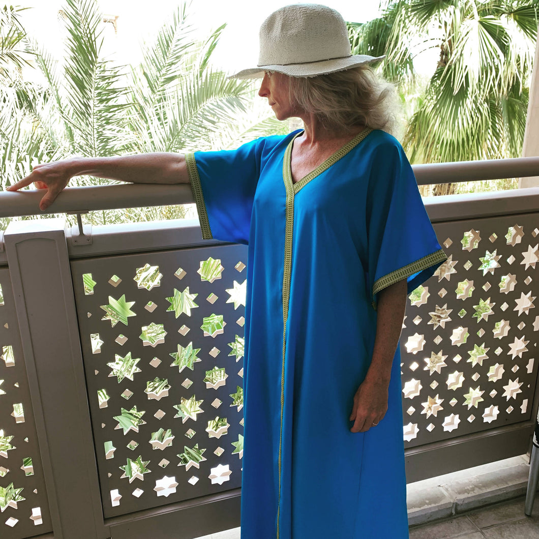 Long Blue Kaftan dress