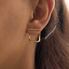 Load image into Gallery viewer, Sabyavi Earrings Gold Ear Jacket Sterling Silver