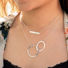 Load image into Gallery viewer, Sabyavi Pendant Gold Entwined Circle Chain Pendant Sterling Silver