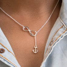 Load image into Gallery viewer, Sabyavi Pendant Silver Infinity & Anchor Chain Pendant Sterling Silver