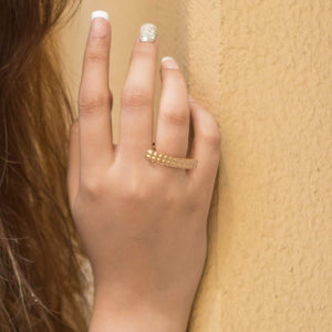 Sabyavi Ring Gold Horizontal Bar Ring Sterling Silver