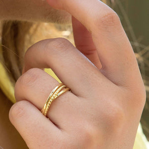 Sabyavi Ring Gold Russian Band Sterling Silver
